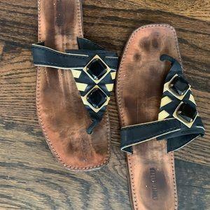 Miu Miu black and white Sandals!
